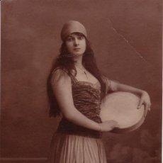 Fotografía antigua: TEATRO CATALAN. RETRATO DE ACRIZ. 1910-1920 APROX.. Lote 23848075