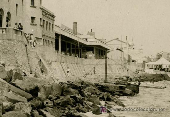 Fotografía antigua: CLUB NATACIÓ BARCELONA. BANYS DE SANT SEBASTIÀ. Circa 1920. BARCELONETA. - Foto 2 - 26261805