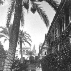 Fotografía antigua: FOTOGRAFÍA DE R. GARZÓN SEVILLA,JARDINES DEL ALCAZAR A FINALES DEL SIGLO XIX. Lote 19307693
