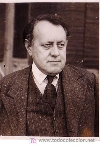 MR. DOUGLAS WOODRUFF EN BARCELONA. FOTO: MERLETTI. MARZO 1945 (Fotografía Antigua - Gelatinobromuro)
