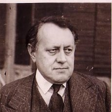 Fotografía antigua: MR. DOUGLAS WOODRUFF EN BARCELONA. FOTO: MERLETTI. MARZO 1945. Lote 11416584