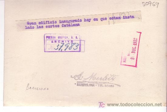 Fotografía antigua: BARCELONA. inauguración del parlament de catalunya. año 1932. foto: merletti. - Foto 2 - 19232567