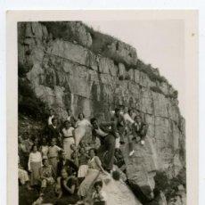Fotografía antigua: GIJON. ASTURIAS. ISLA DE LA PROVIDENCIA. GRUPO DE PERSONAS. 10/7/1934. Lote 26659753