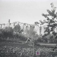Fotografía antigua: ARAGON. PUEBLO DE ARAGÓN. NEGATIVO. PRECIOSA FOTO DESDE LOS HUERTOS. CIRCA 1945. SIN AUTORÍA.. Lote 20552771