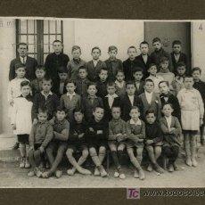 Fotografía antigua: ESCUELA LAICA. COLEGIO, PROFESOR Y ALUMNOS. 4/4/1930. BARCELONA. Lote 23371746