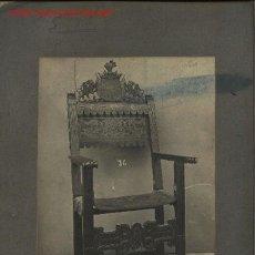 Fotografía antigua: FOTOGRAFÍA ANTIGUA DE MOBILIARIO ESPAÑOL. SILLÓN FRAILERO. SIGLO XVI.. Lote 23192995
