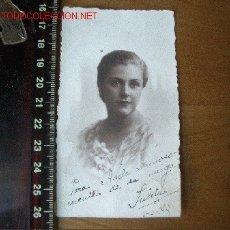 Fotografía antigua: FOTO DE FECHADA EN EL 38 CON DEDICATORIA. Lote 20278968