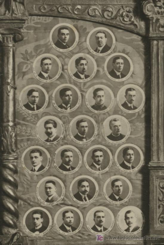 Fotografía antigua: FACULTAD DE DERECHO. Barcelona. Universidad. 1914. Orla de profesores y alumnos. - Foto 4 - 10001509