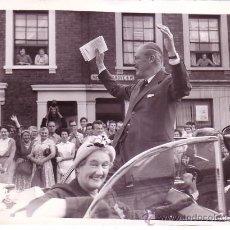 Fotografía antigua: MR. MACMILLAN. 3-10-1959. KEYSTONE PHOTOS. 15X20 CM. VER TEXTO REVERSO. Lote 20375047