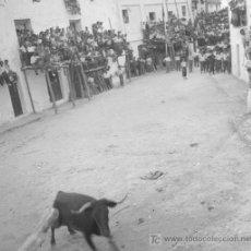 Alte Fotografie - ARAGÓN. Tarde de toros en las calles. Circa 1945. Negativo de acetato. - 18937028