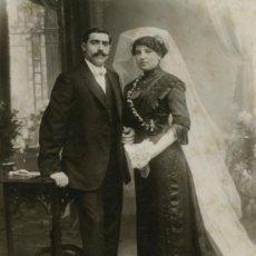 Fotografía antigua: BARÓ. ESPECTACULAR FOTO NUPCIAL. F: A. BARÓ. BCN. CIRCA 1915. Lote 26882492