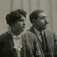 Fotografía antigua: RETRATO DE MATRIMONIO. ESPLÉNDIDA FOTOGRAFIA DE ERNEST. BARCELONA. CIRCA 1915. MODERN STYL.. Lote 11334395