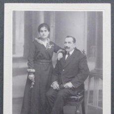 Fotografía antigua: SANTONJA. GRACIA. BARCELONA. PAREJA. CIRCA 1915. Lote 24853675