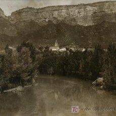 Fotografía antigua: SAU. PUEBLO DE SAU ANTES DE DESAPARECER BAJO LAS AGUAS. GRAN FORMATO. CIRCA 1945. Lote 26051081