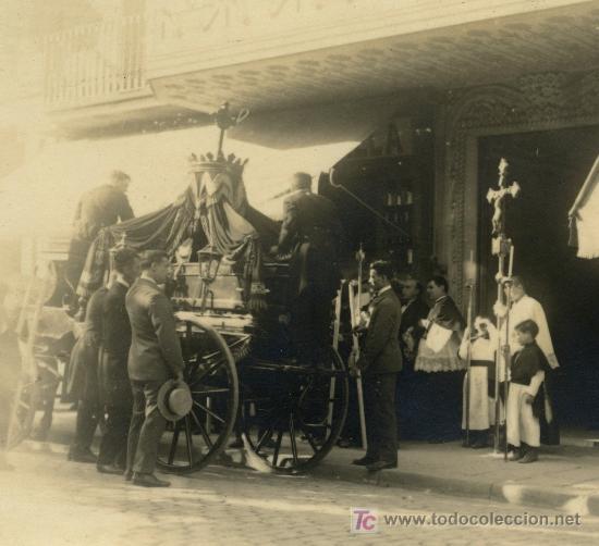 ENTIERRO. BARCELONA. CIRCA 1920 (Fotografía Antigua - Gelatinobromuro)