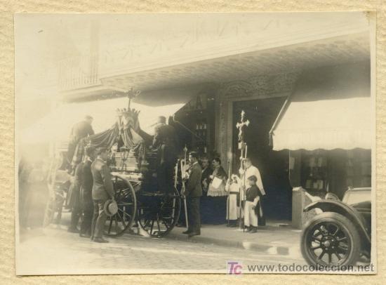 Fotografía antigua: ENTIERRO. Barcelona. Circa 1920 - Foto 2 - 19861837