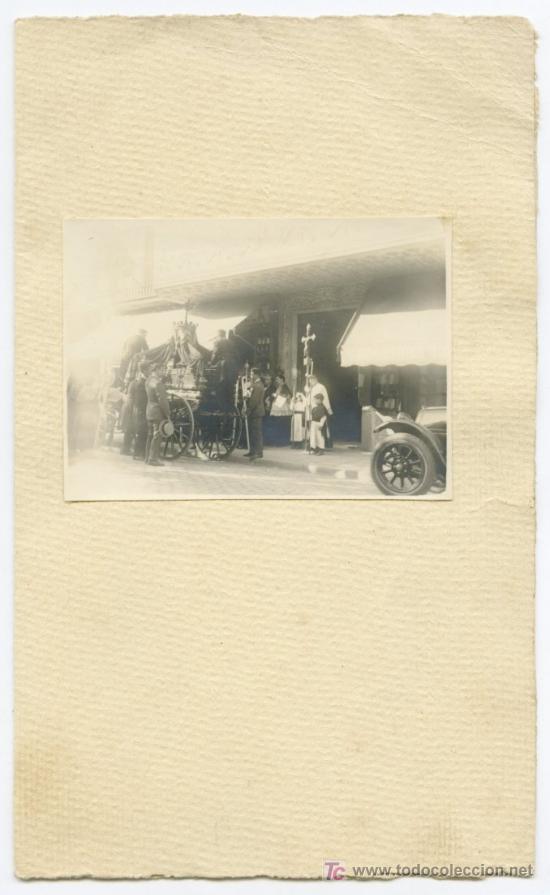 Fotografía antigua: ENTIERRO. Barcelona. Circa 1920 - Foto 3 - 19861837