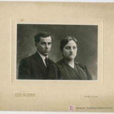 Fotografía antigua: PAREJA. EL SIGLO. GRANDES ALMACENES. BARCELONA. CIRCA 1920. Lote 12038679