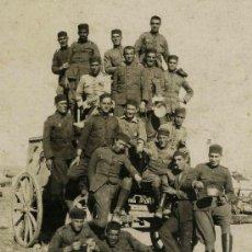 Fotografía antigua: SOLDADOS. BONITO GRUPO DE MILITARES. CIRCA 1900. SIN AUTORÍA.. Lote 25840914