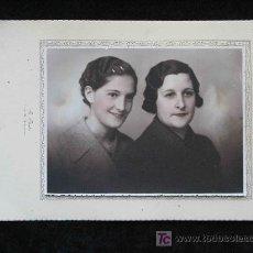 Fotografía antigua: MADRE É HIJA. FOTO LEVEMENTE ILUMINADA. F: R. BLASKE. CIRCA 1935. BARCELONA. Lote 12887469