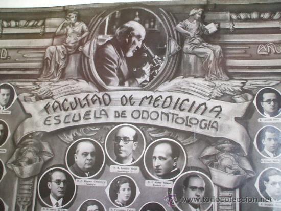 FACULTAD DE MEDICINA - SANTIAGO RAMÓN Y CAJAL - MADRID 1936 - (Fotografía Antigua - Gelatinobromuro)