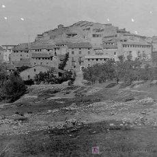 Fotografía antigua: GARCÍA. PUEBLO Y RÍO. RIBERA DEL EBRO. INTERESANTE DOCUMENTO GRÁFICO. CIRCA 1925. Lote 279363898