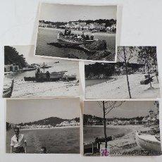 Fotografía antigua: LLAFRANC, GIRONA.AÑO 1956. 4 FOTOS 10 X 7,5 CM. Y 9X 11,5 CM. Lote 13711724
