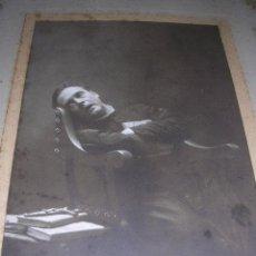 Fotografía antigua: FOTOGRAFIA ARTISTICA FOTGR.KAULAK MADRID 1907 DEDICATORIA AUTOGRAFA ENRIQUE BORRAS,. Lote 23038002