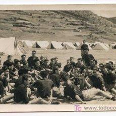 Fotografía antigua: CAMPAMENTO DEL FRENTE DE JUVENTUDES DE FALANGE. FOTÓGRAFO LUIRAM, MADRID. 10/07/1945. Lote 22590091