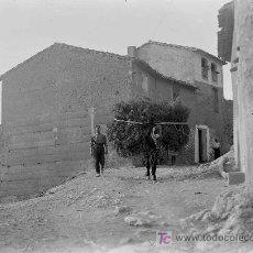 Fotografía antigua: RIBERA D'EBRE. GARCIA. PRECIOSA FOTO DE CALLE DEL PUEBLO. CIRCA 1930. Lote 20613753