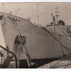 Fotografía antigua: FOTOGRAFIA DEL BUQUE DE TURISTA SYLVANIA EN EL PUERTO DE CADIZ. Lote 14960956