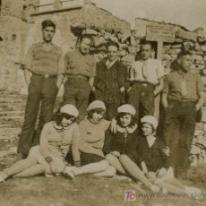 Fotografía antigua: TAGAMANENT. EL MONTSENY. INTERESANTE FOTO DE 4 CHICAS Y 5 CHICOS DE EXCURSIÓN. AÑOS 30.. Lote 20324640