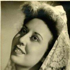 Fotografía antigua: SEÑORA CON MANTILLA. F: GIRAU. CIRCA 1935. Lote 15307717