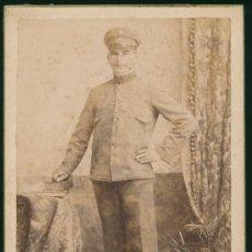 Fotografía antigua: RETRATO DE UN HOMBRE EN UNIFORME MILITAR ? BIZIOLI HERMANOS BUENOS AIRES ARGENTINA. Lote 22037864