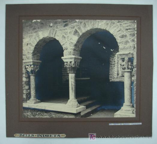 FOTOGRAFÍA. SANT MARTÍ DE CANIGÓ. CLAUSTRES. 23 X 27 CM. (Fotografía Antigua - Gelatinobromuro)