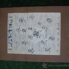 Fotografía antigua: 1911. FOTOMONTAJE BARCELONA CLUB DE DOMINO . Lote 27162966