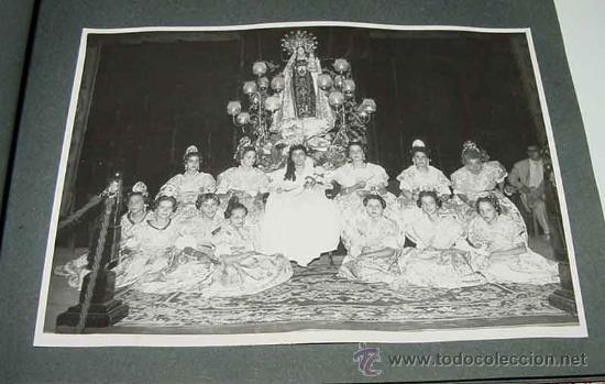 ANTIGUO ALBUM DE FOTOGRAFIAS DE ALCACER - ALCASSER - VALENCIA - 1957, CORONACION DE LA VIRGEN DEL CA (Fotografía Antigua - Gelatinobromuro)