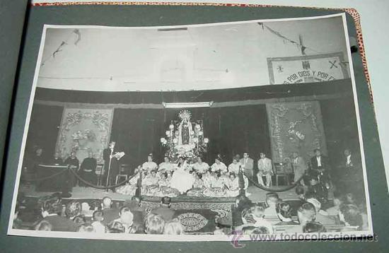 Fotografía antigua: ANTIGUO ALBUM DE FOTOGRAFIAS DE ALCACER - ALCASSER - VALENCIA - 1957, CORONACION de la Virgen del Ca - Foto 3 - 26811639