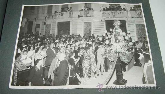 Fotografía antigua: ANTIGUO ALBUM DE FOTOGRAFIAS DE ALCACER - ALCASSER - VALENCIA - 1957, CORONACION de la Virgen del Ca - Foto 4 - 26811639