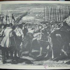 Fotografía antigua: CONFERENCIANTE ESCOLAR . VELAZQUEZ , LA RENDICIÓN DE BREDA . FOT. ANDERSON . 60X52 SEIX Y BARRAL. Lote 18413018
