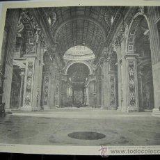 Fotografía antigua: CONFERENCIANTE ESCOLAR .SAN PEDRO DE ROMA . FOT. ALINARI . 60X52 SEIX Y BARRAL. Lote 18413215
