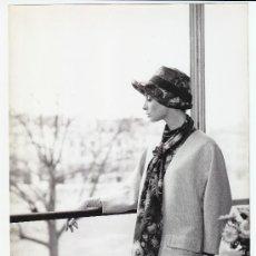 Fotografía antigua: MODA, MODELO PARA VOGUE, FOTO: GEORGE DAMBIER, 1960. 18X24 CM. Lote 18954626