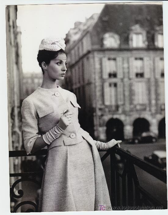MODA, MODELO PARA VOGUE, FOTO: GEORGE DAMBIER, 1960. 18X24 CM (Fotografía Antigua - Gelatinobromuro)