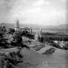 Fotografía antigua: GIRONA. VISTA DESDE LO ALTO. CATEDRAL Y CIUDAD DE FONDO. BONITA FOTO. CIRCA 1915. Lote 20106206