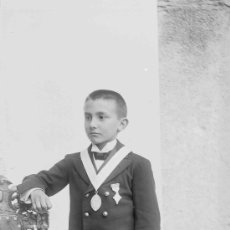 Fotografía antigua: SEGISMUNDO MUNTEIS. RETRATO DE NIÑO. BARCELONA. CIRCA 1915. Lote 26898101