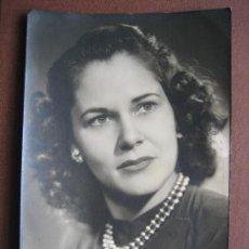 Fotografía antigua: BARCELONA. FOTO GALÁN. RETRATO DE SEÑORITA, 1947. Lote 26730157