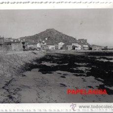 Fotografía antigua: ANTIGUA FOTOGRAFIA MUGIA, MUXIA (LA CORUÑA) ENLACE DEL PUERTO CON LA CARRETERA. Lote 27089168