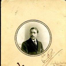 Fotografía antigua: ANTIGUA FOTOGRAFIA. ERNESTO 1910. FOTO YO. MADRID. Lote 26908125