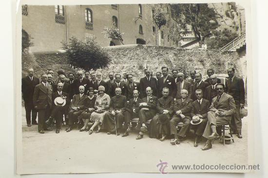 RETRATO DE GRUPO. FOTO: GASPAR SEGARRA TORRENTS, 1930'S. 18X24 CM (Fotografía Antigua - Gelatinobromuro)