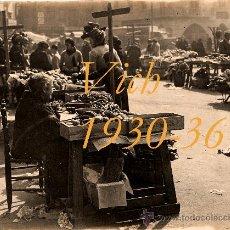 Fotografia antica: VICH - MERCAT DE VICH - 1930-36. Lote 26808838